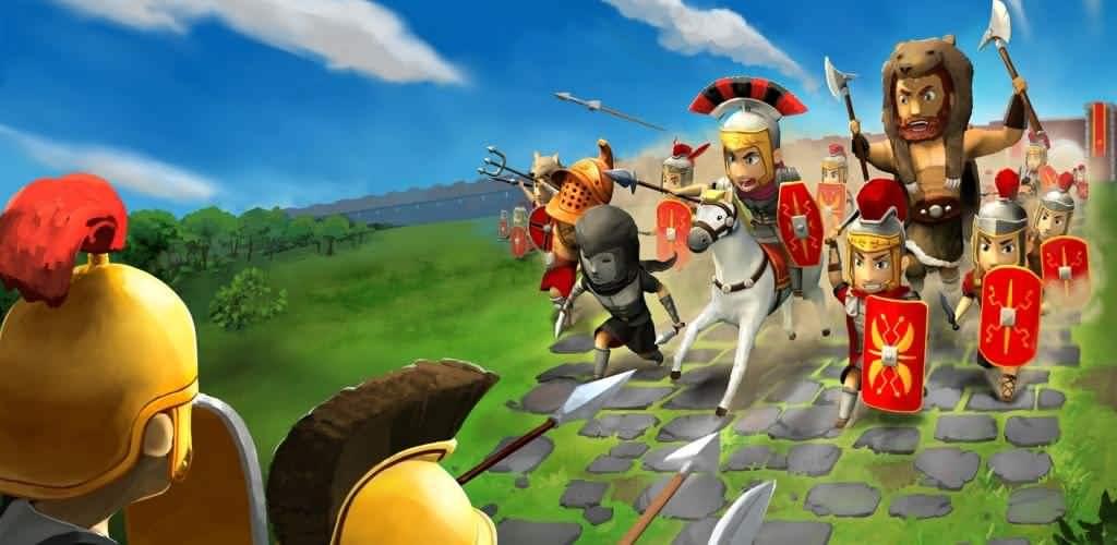 دانلود بازی امپراطوری روم اندروید Grow Empire: Rome 1.4.43 +مود